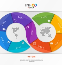 Infographic template in the form of the infinity vector