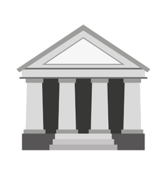 justice building isolated icon vector image vector image