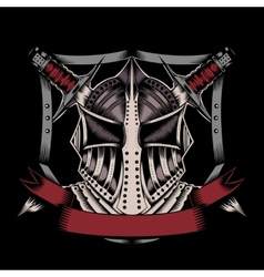 Mask with swords vector