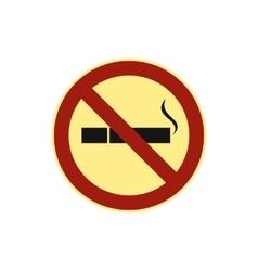 No smoking sign icon flat style vector image vector image