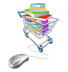 online education or internet book shopping vector image