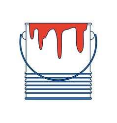 Paint bucket color repair symbol vector