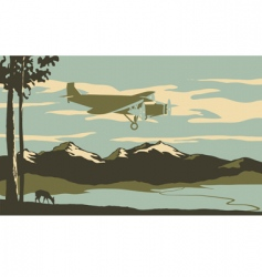 passenger plane vector image vector image