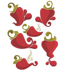 peppers collection vector image