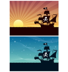 pirate backgrounds vector image vector image