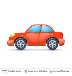 red car isolated on white vector image vector image