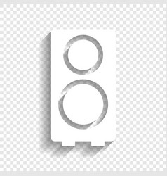 Speaker sign white icon with vector