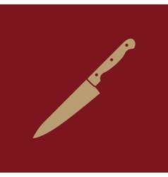 The knife icon chopper knife symbol flat vector