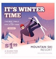 Winter sport poster vector