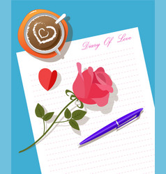 writing diary vector image vector image