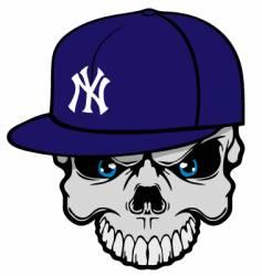 yank skully vector image vector image