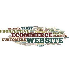 Your ecommerce website how to gain the trust of vector