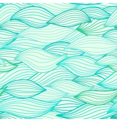 Sea waves hand drawn vector