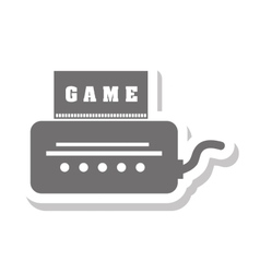 Video game console isolated icon vector