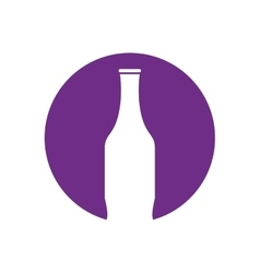 Bottle white pictogram color circle vector