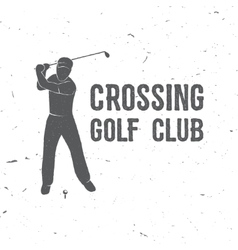 Golf club concept with golfer silhouette vector