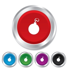 Christmas ball sign icon holidays button vector