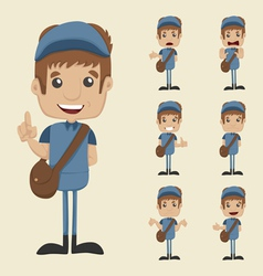 Set of postman vector