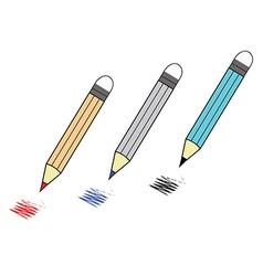 color pencil vector image