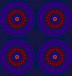 Circle pattern indian blue vector