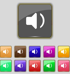 Speaker volume sound icon sign set with eleven vector