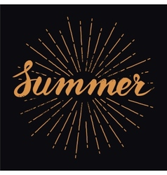 Hand drawn vintage summer design element with vector