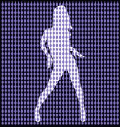 Dancer behind bead curtain vector