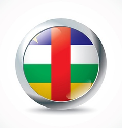 Central african republic flag button vector