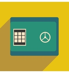 Modern flat icon with shadow cash safe vector