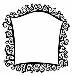 thorn frame vector image