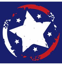 American stars and stripes symbol vector image vector image