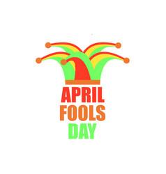 April fools day jester hat cap and bells vector