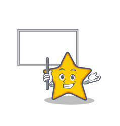 Bring board star character cartoon style vector