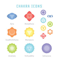 Chakra icons vector
