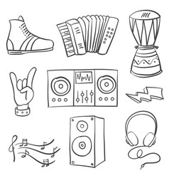 Collection stock musical doodles vector