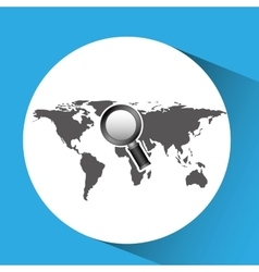 Concept globe browser social media vector