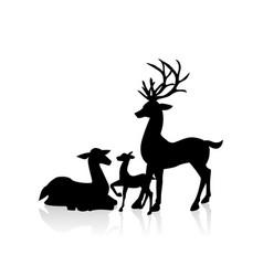 Deer family vector