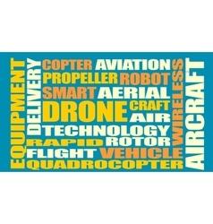 Drone relative word cloud vector image vector image