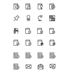 Education line icons 7 vector