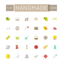Flat Handmade Icons vector image vector image