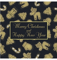 Gold pattern christmas vector
