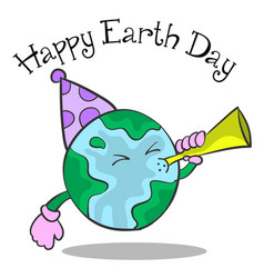 happy earth day cartoon design vector image vector image