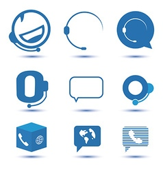 Icons for call center or hotline support symbol in vector image