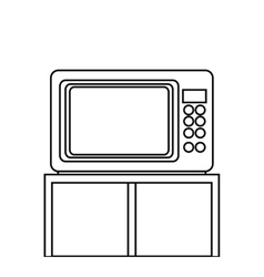 Isolated microwave machine design vector