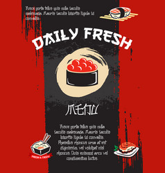 japanese restaurant sushi menu template vector image vector image