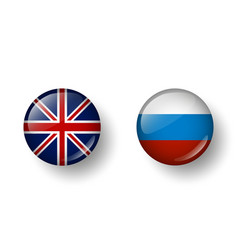 Languages english and russian vector