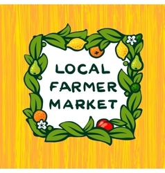 Local farmer market farm logo design vector