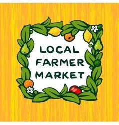 Local farmer market farm logo design vector image vector image