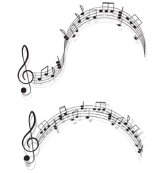 Music Two treble clefs and notes for your design vector image vector image