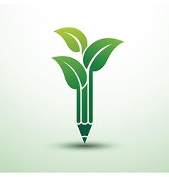 pencil leave vector image